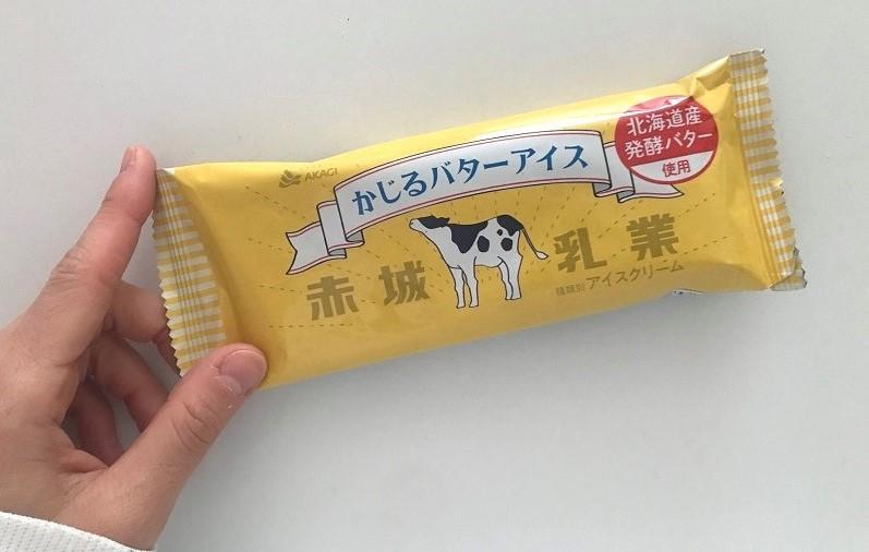 バター アイス コンビニ かじる