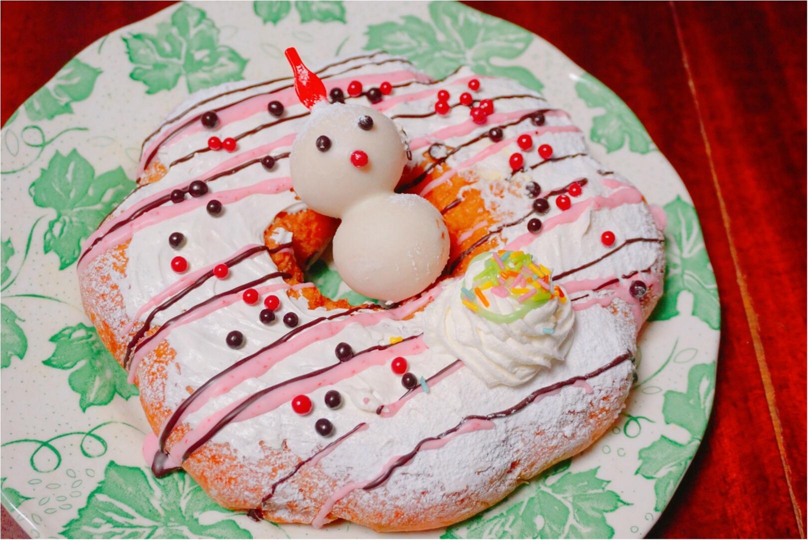 """《ミスドのクリスマス♪》みんなでシェアできる直径18㎝の""""ビッグドーナッツ""""がボリューミーで可愛い♡_2"""