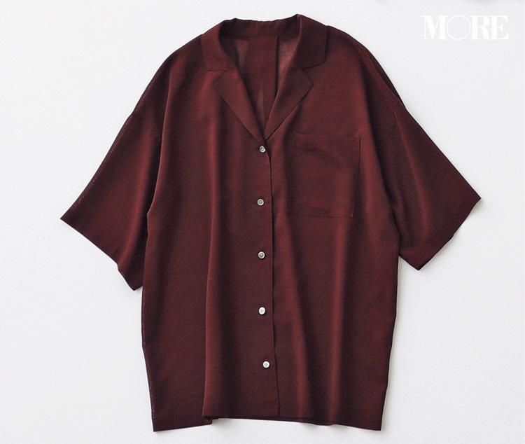 秋も使えるから。トレンド先取りっ♡ 佐藤栞里inブラウンのシャツ、4変化!_1