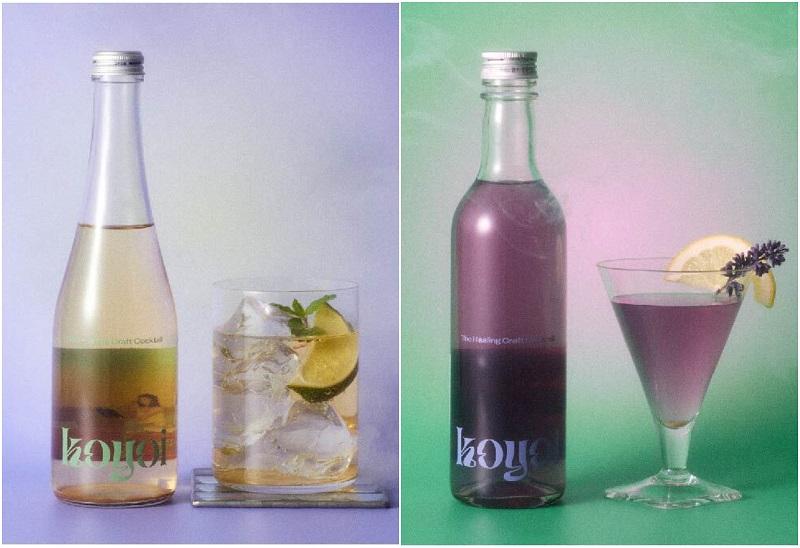 おしゃれすぎる低アルコールクラフトカクテル『koyoi』。「Garden chill time」と「Herbal detox」のイメージビジュアル