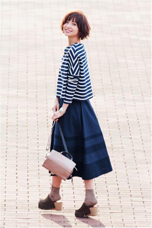 【2月に買って4月までずっと着る!】篠田麻里子のスカート着まわし×3_1