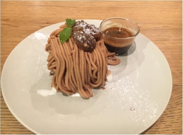 【大阪カフェ】理想のモンブラン見つけた!あったか×冷やっとが絶妙な《モンブランアフォガード》♡_4