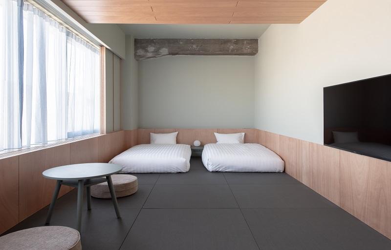 【東京のおしゃれなホテル】韓国っぽホテルおすすめ。蔵前『KAIKA 東京 by THE SHARE HOTELS』部屋イメージ