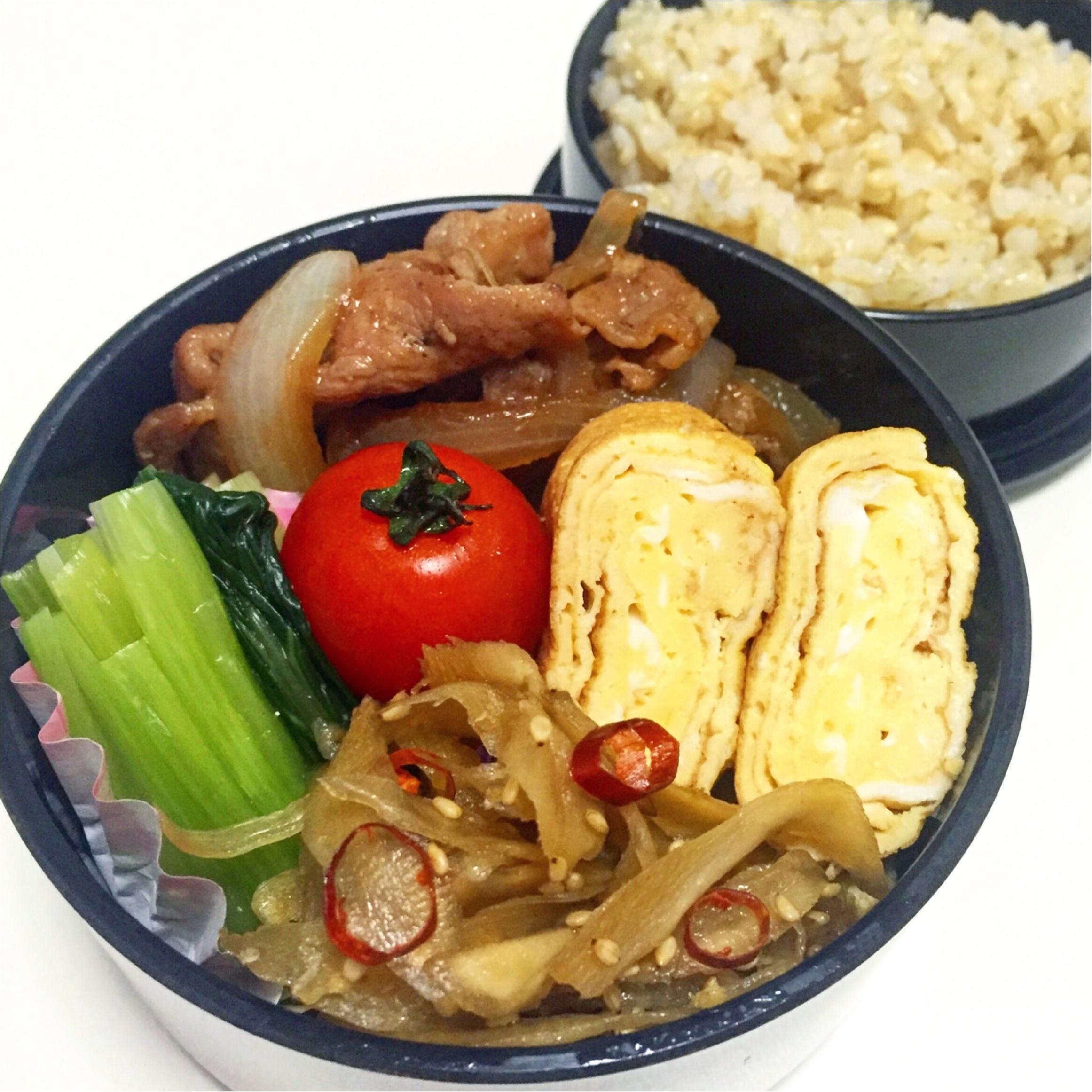 【彩りよくお弁当を作るコツ】つくりおきと1週間のお弁当_4