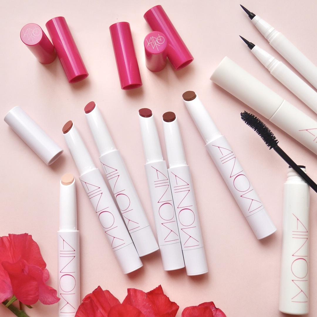 気になるブランド『AINOKI』の新メイクアイテムを、美容家立花ゆうりがお試し♡ おすすめは唇温度でとろけるリップスティック!_1