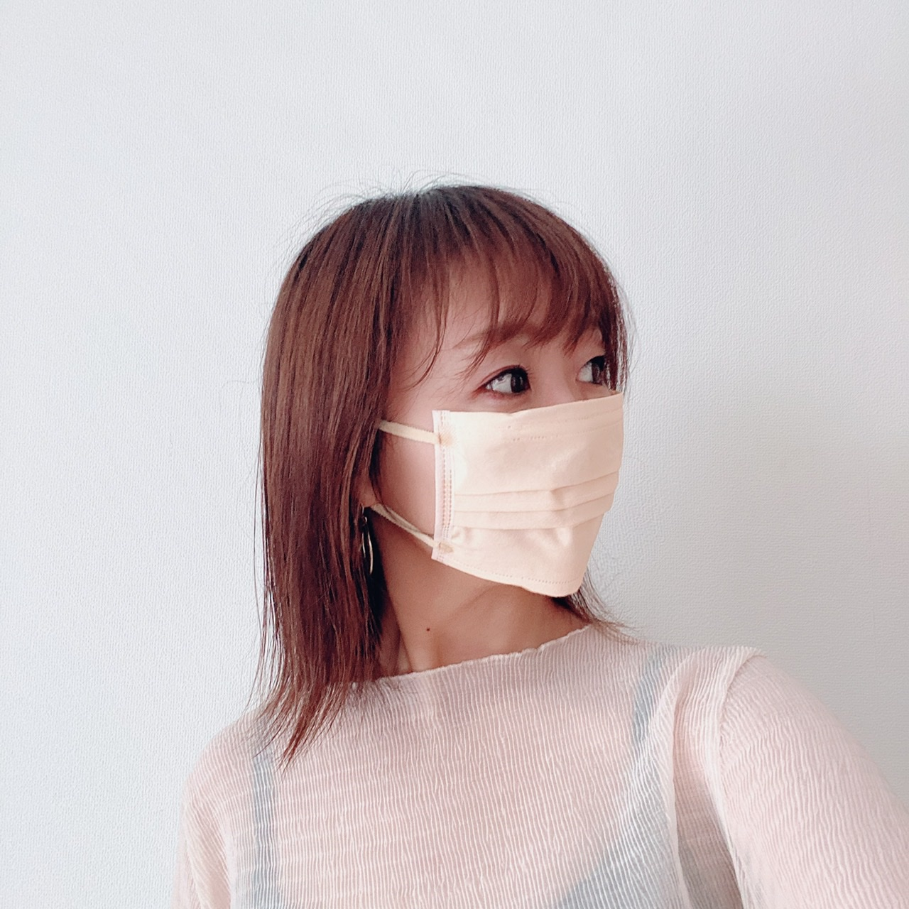 マスク着用写真