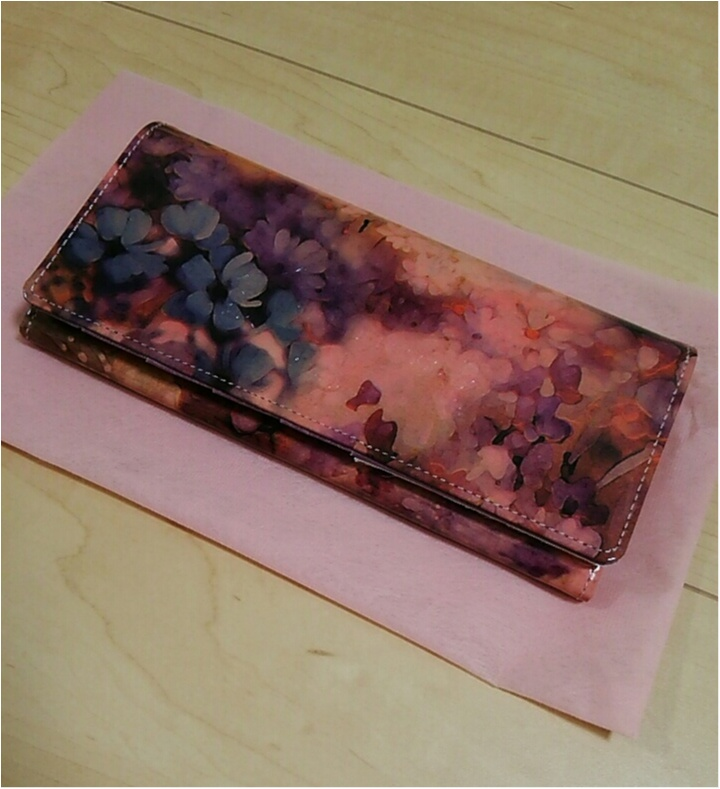 運命のお財布に出逢いました!美しすぎる・・・【ALBA】のウォレット(443 まゆ_5