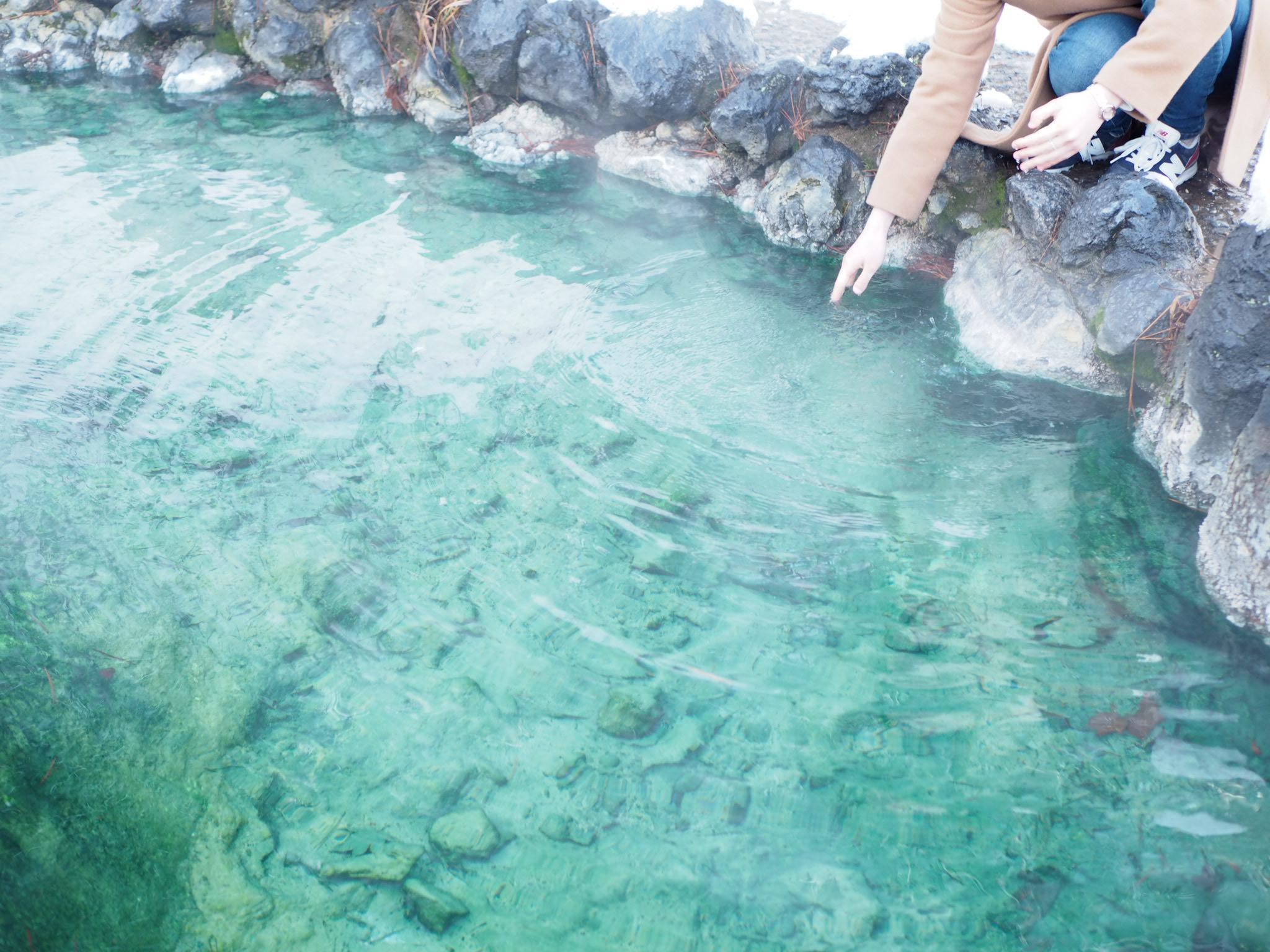 【草津温泉】湯もみショーと温泉が湧き出る西の河原公園♡_4