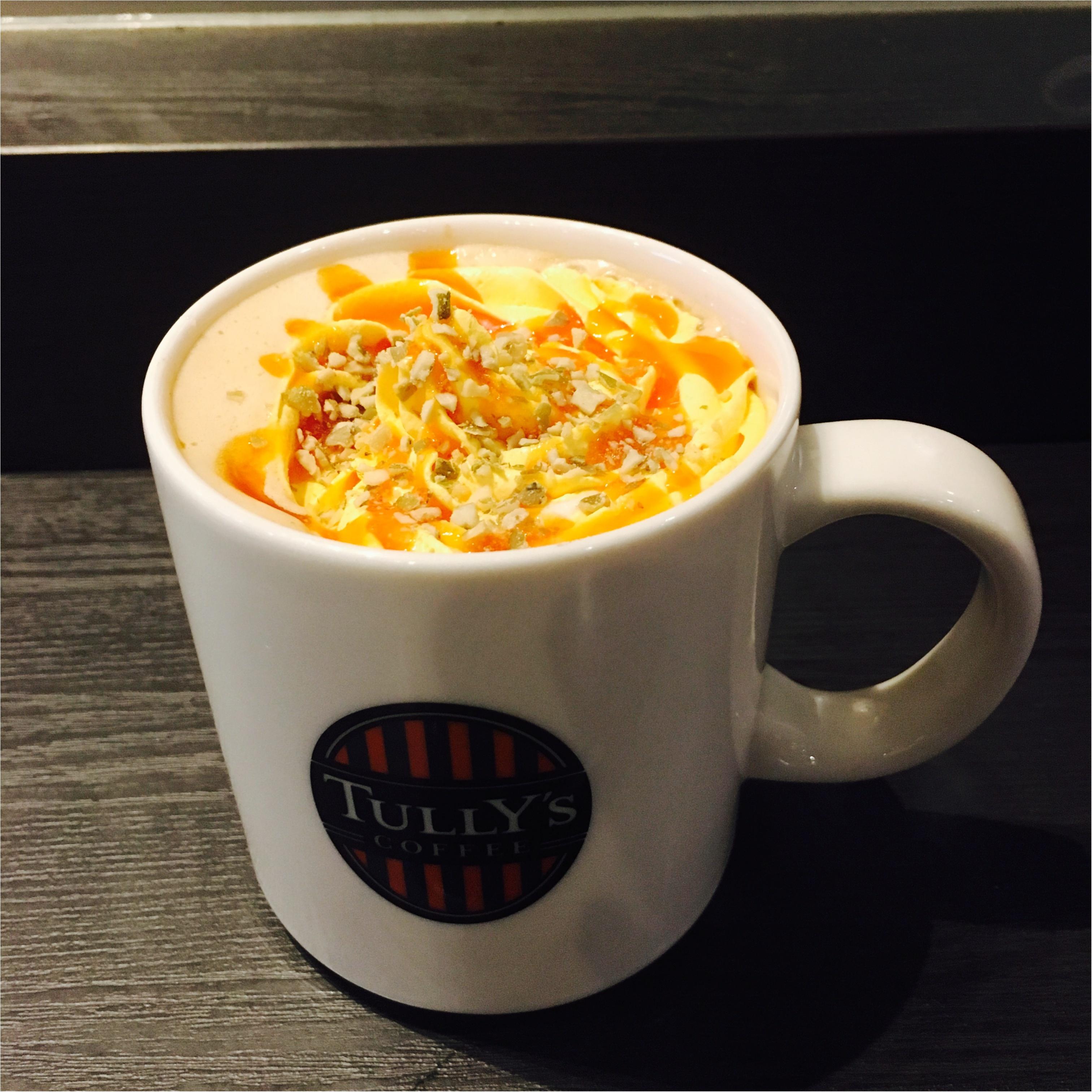 [Tullys coffee]ハロウィン先取り!期間限定のキャラメルパンプキンラテ_1