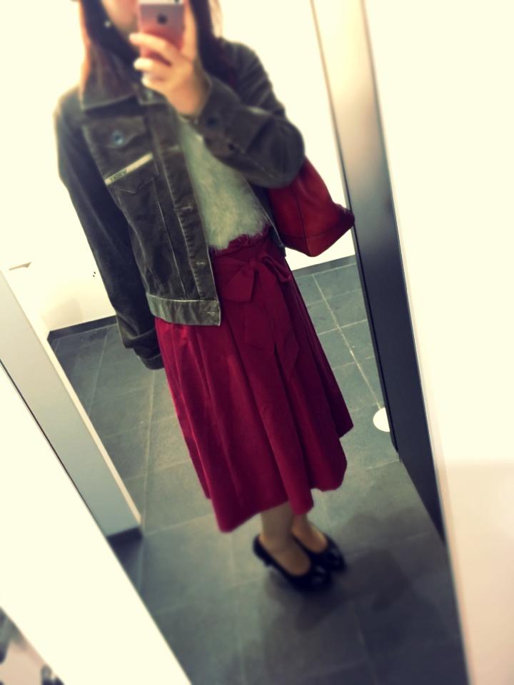 【ファッション】赤deおでかけ秋コーデ_2