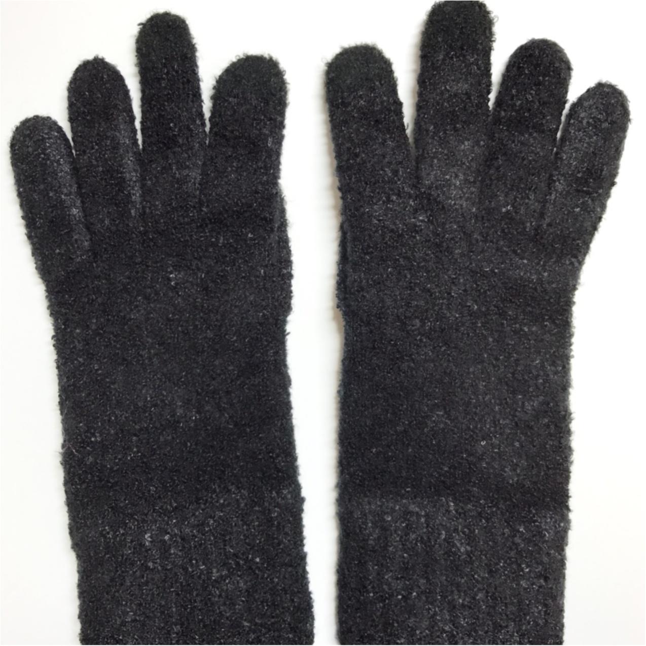 【ワンコインで簡単♪】シンプル手袋を可愛くリメイク❤︎_1