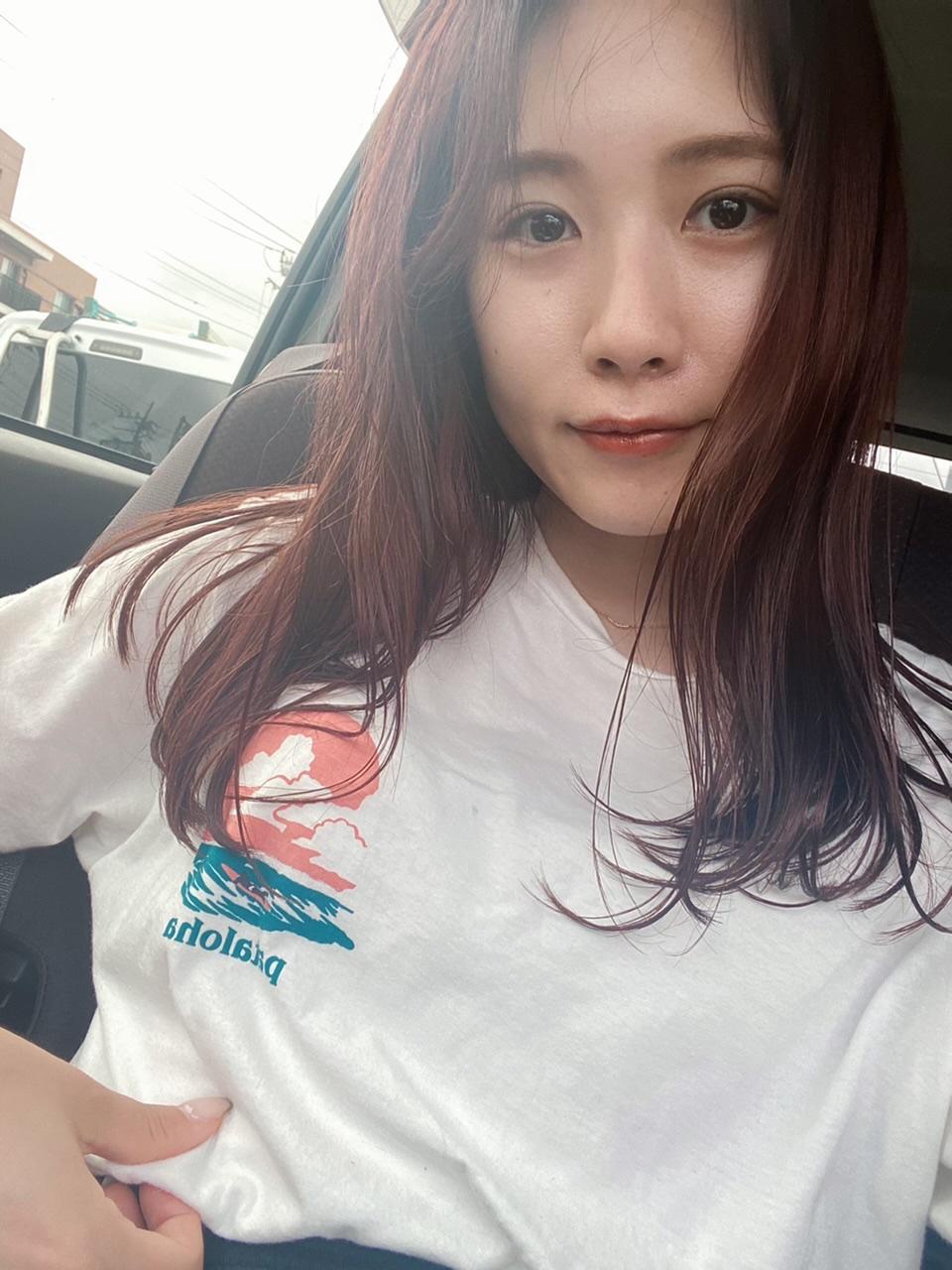 【虹プロ熱冷めず】Newヘアカラーと韓国風前髪やはじめてのコーデ紹介_4