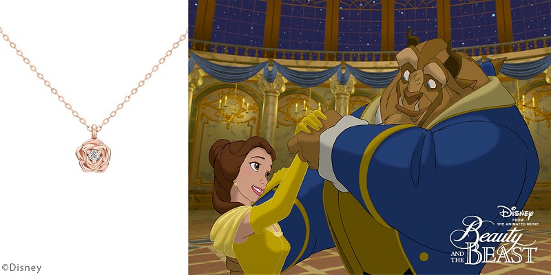ディズニー、美女と野獣のベルをイメージしたネックレス