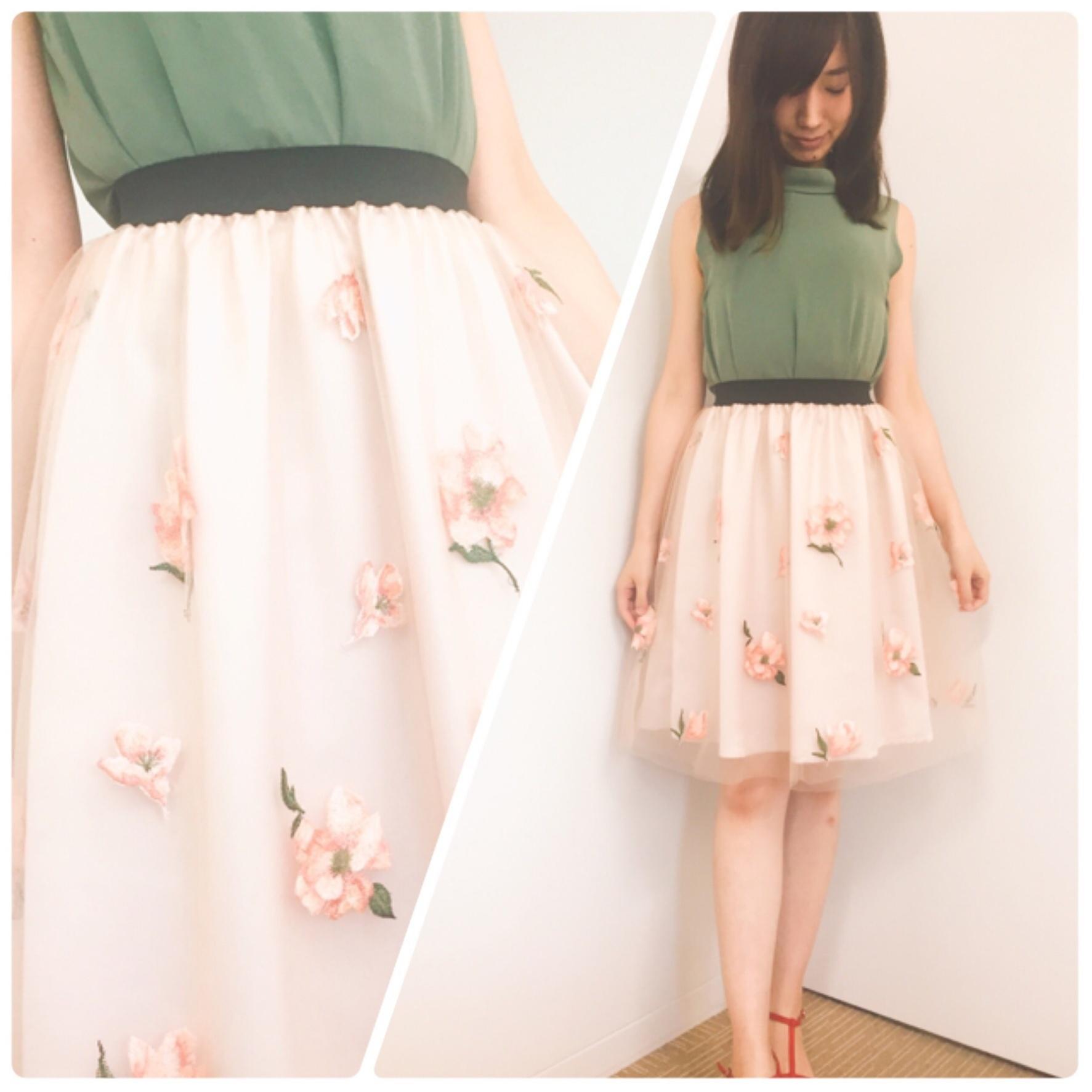 【31 Sons de mode/セール】たまにはフェミニンに♡刺繍入りチュールスカートが『70%』で驚きのプチプライスでした!_2