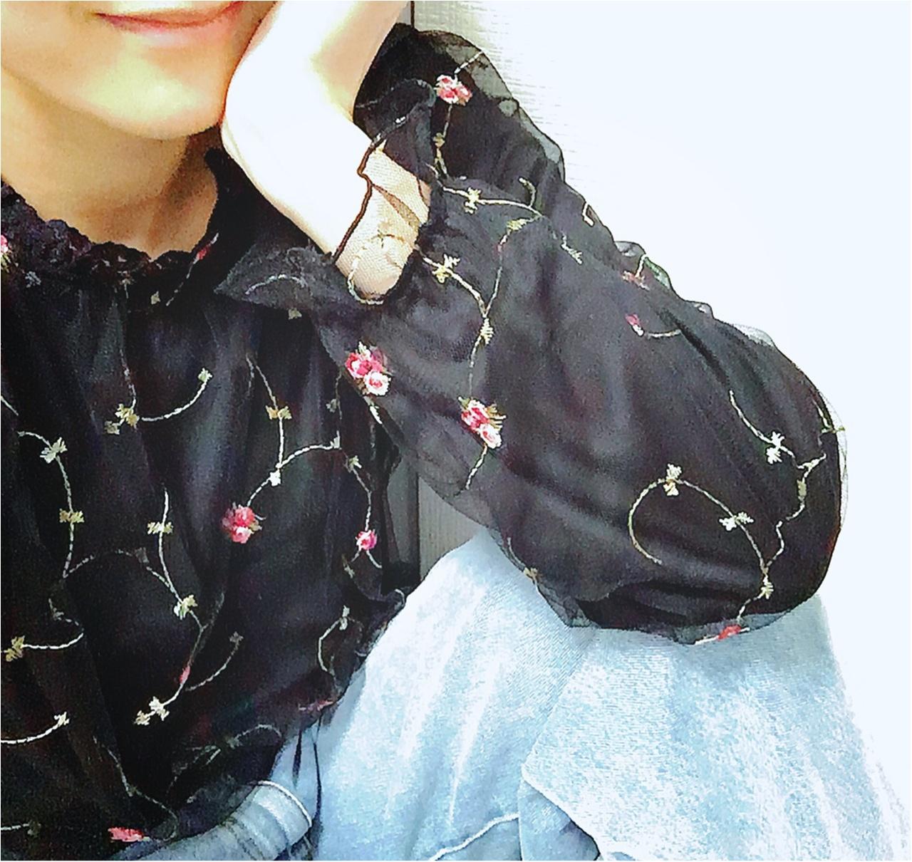 2017年初の【しまむら】アイテムをゲット★高見えなのにプチプラ!な《一目惚れ刺繍ブラウス》❤️_5