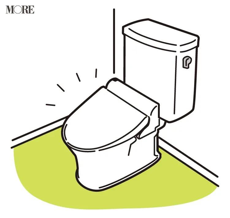 風水の開運掃除法で便器の蓋が閉じているトイレ