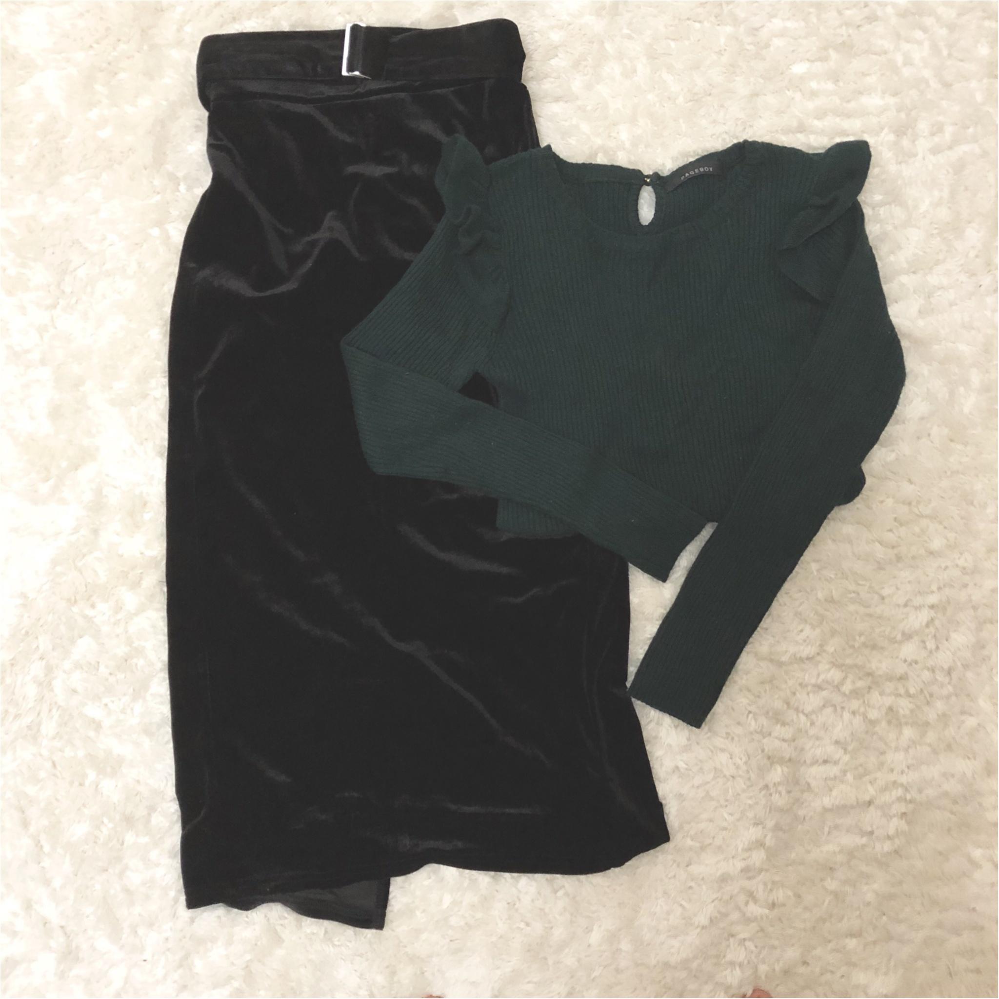 形が可愛い♡Knitが1990円?!冬のニットは【GU】で♡ ベロア素材のタイトスカートもプチプラ価格。_3