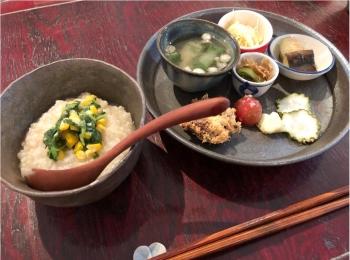 【 朝食 】体に優しくて美味しい♡ おかゆモーニングで体も心もほっこり♡♡