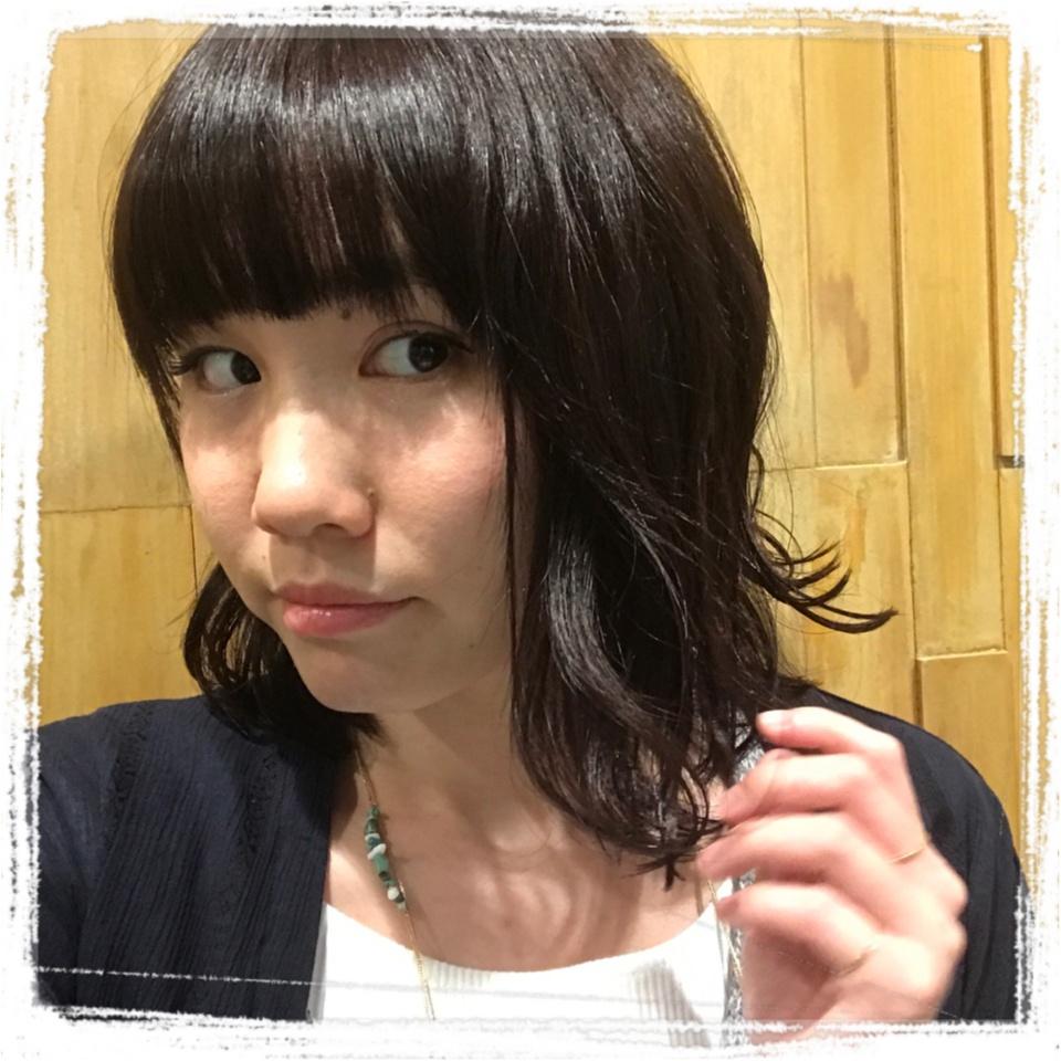 …ஐ 【hair】かなな、黒髪にしました‧⁺ ஐ¨_3