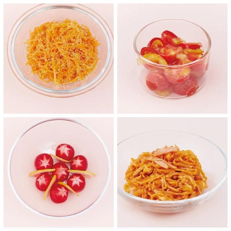 【作り置きお弁当レシピ】赤のおかず4品