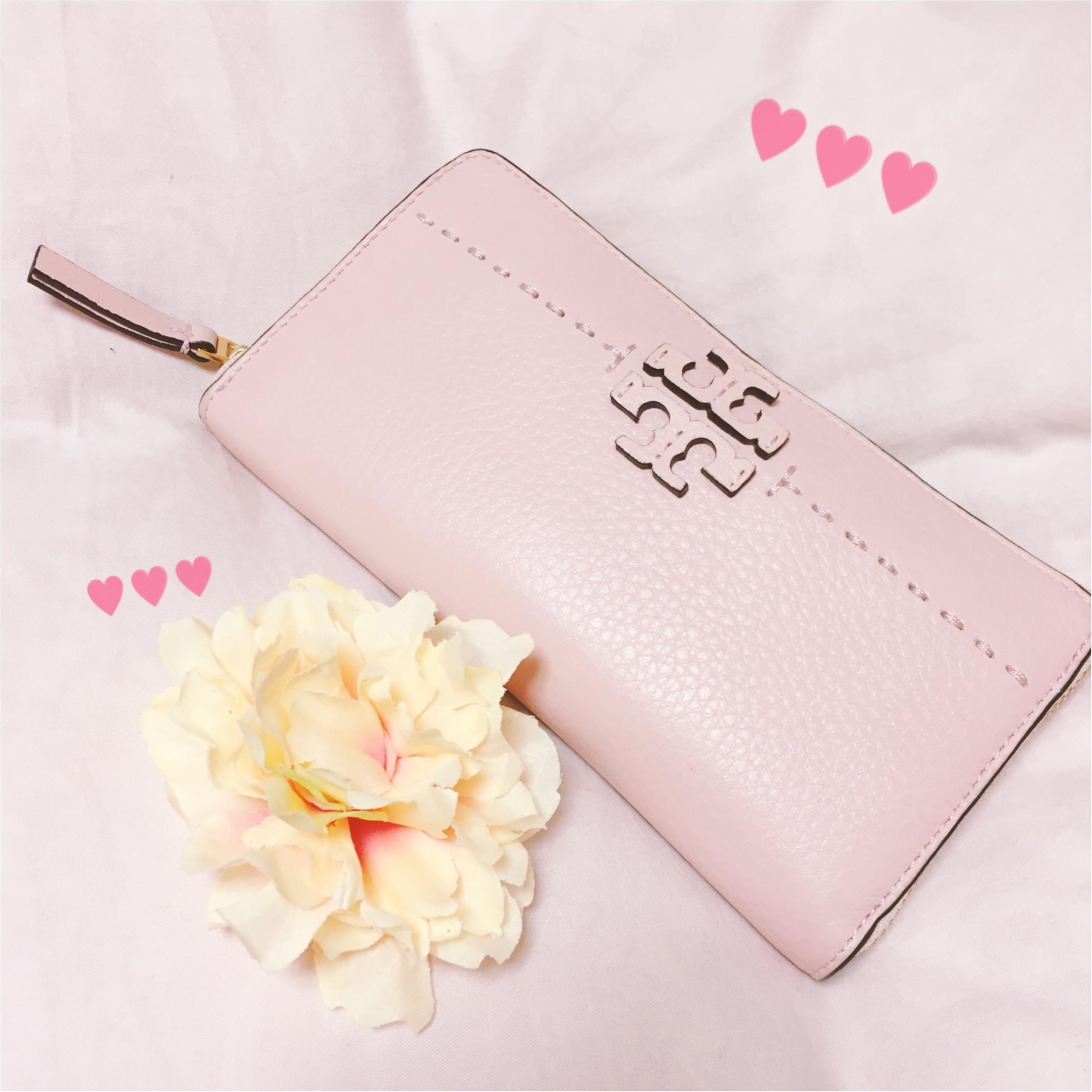 《恋愛運UPに効く最強カラー★》【TORY BURCH】でピンクの財布を新調しました❤️_1